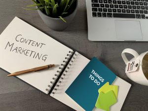 Blog Banner Content Marketing + Social Media Marketing