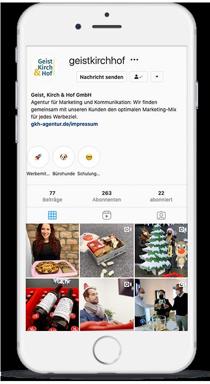 Smartphone Instagram Geist, Kirch & Hof